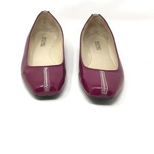 Michael Kors Purple Round Toe Flats Zip Detail 8